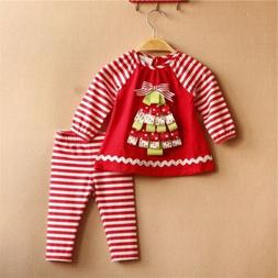 Toddler Kids Baby Girls Clothes Boys Outfits Set Short T-Shi