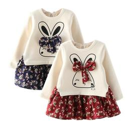 Toddler Kids Baby Girls Outfits Clothes Sweater Coat Tops+Fl