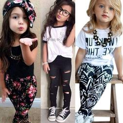 Toddler Kids Baby Girls Outfits Clothes T-Shirt Tops Coat Pa