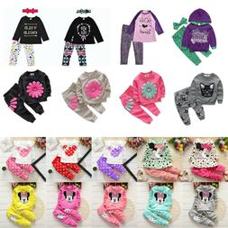 Toddler Kids Boys Girls Clothes Sweatshirt Tops + Pants Trac