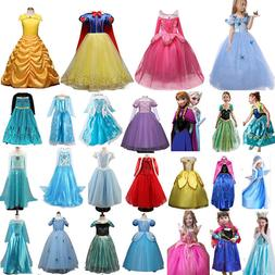 Toddler Kids Girl Frozen Anna Elsa Princess Cosplay Party Fa
