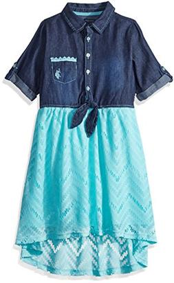 U.S. Polo Assn. Girls' Little Casual Dress, for Look lace Mi