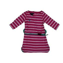 U.S. Polo Assn. Girls Pink Striped Long Sleeves Tunic Top Sh