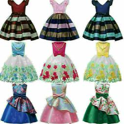 US Princess Tulle Dress Baby Girls Lace Floral Party Tutu Dr