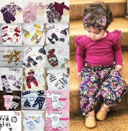 USA Boutique Kids Baby Girls Floral Romper Tops Pants Home O