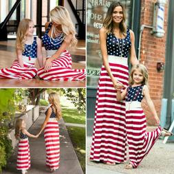 USA Fourth of July Mother Daughter Matching Clothes Mom Girl
