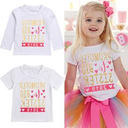 USA Kids Baby Girls 2019 T-shirt Toddler Big Sister Blouse T