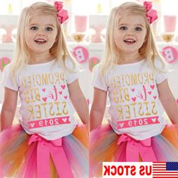 USA Kids Girls Baby Short Sleeve Cotton T-shirt Tees Toddler