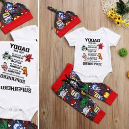 USA Newborn Baby Boys Girls Avengers Superhero Romper Pants