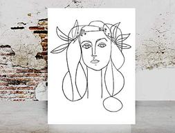 Fashion wall art print - Picasso Dove Of Peace Woman Face Ar